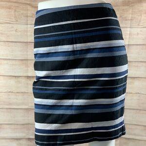Banana Republic Navy Blues Stripes Skirt